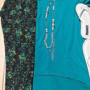 Lularoe 3XL Solid Irma and TC  Floral Leggings New